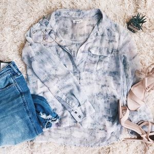 URBAN OUTFITTERS Watercolor Blouse